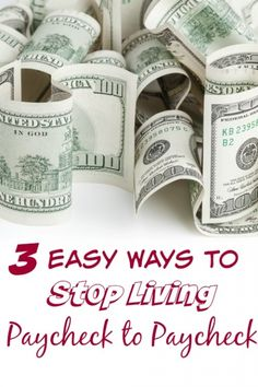 3 Ways to Help Yourself Stop Living Paycheck to Paycheck - Living life waiting on a paycheck to come in each week isn't any way to live. These 3 simple steps will have you looking at your budget in a new light and saving money so that you can survive more than one paycheck!