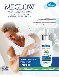 Vanish your dryness with Whitening body lotion for men from Meglow. . . #men #skinprotection #skincare #healthyskin #beautifulskin #meglowskincare #meglow #loveyourskin #bebeautiful #beautifulyou #winters