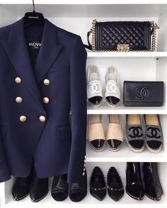 My wardrobe essentials  Dress shabbily & they remember the dress; dress impeccably & they remember the woman.