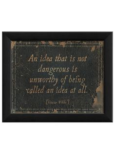 An Idea That Is Dangerous... by Artwork Enclosed on Gilt Home
