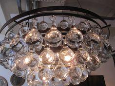 arctic pear chandelier, ochre