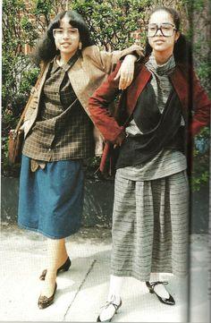 Fly girls, East Flatbush, 1980. ( Photo by Jamel Shabazz.)