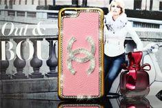 Chanel moderne Hardcase mit Diamanten verziertem Logo und Kanten für iPhone 4/4S/5/5S/6/6 Plus - spitzekarte.com