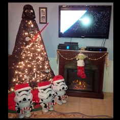 Our Star Wars Christmas... Darth Vader Tree 2015 <3
