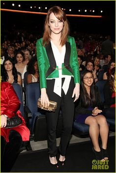 Emma Stone: The girl with the green blazer
