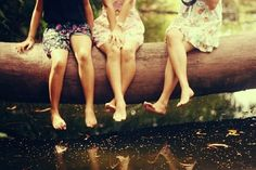 going barefoot in the summer w/friends
