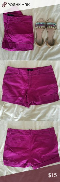 Magenta Shorts Bring purple/deep pink stretch shorts - mostly like chino shorts. Super comfy, but the back pockets are fake.   98% cotton 2% spandex   The shorts are the only item included in this listing - the other items were added for inspo ??  Thank you for visiting! All reasonable offers considered?? Mossimo Shorts