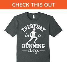 Mens Everyday Is A Running Day Shirt: Funny Run Runner Tee XL Dark Heather - Funny shirts (*Amazon Partner-Link)