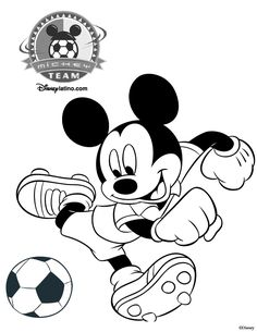 Minnie Mouse Soccer Coloring | Coloring Pages