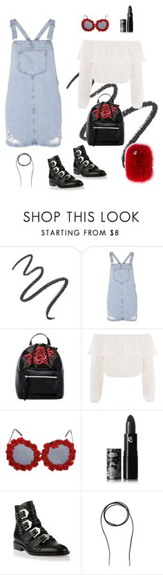 """""""Smell the Roses"""" by littlehawkamanda on Polyvore featuring Maybelline, Topshop, T-shirt & Jeans, Glamorous, Boohoo, Lipstick Queen, Givenchy, Bølo and Wild & Woolly"""