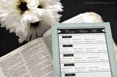 Reading Chart with a Scripture-a-Day from now until Christmas that focuses on Christlike attributes.