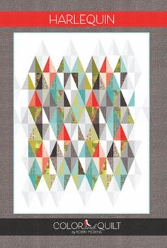 """Harlequin Quilt Kit featuring Dear Mum fabric from Robin Pickens for Moda Fabrics Quilt finishes at 61"""" 83"""" Includes 1 Layer Cake of Dear Mum, 7.5 Yards of Bella Solids, Binding and Pattern Not Included:Backing, suggested 5 1/8 Yards."""