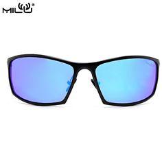 23a65f5c6e5 MILU Luxury Brand Logo Aluminum Magnesium Sunglasses men polarized Aviator  Fishing Driving Goggles Pixel Mirror UV400
