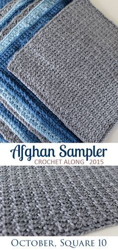 Great reversible crochet stitch -- Spider Stitch, Square 10 of 10 of the Crochet Along Afghan Sampler on The Inspired Wren