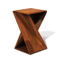 "Open Twisted Accent Table by dot & bo $220 14.5"" X 14.5"" X 24"""
