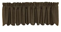 """Kettle Grove Plaid Lined Scalloped Curtain Valance 72"""" x 16"""""""