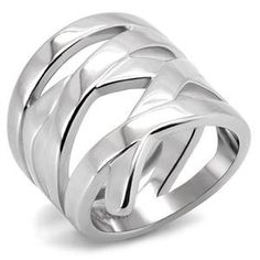 RIGHT HAND RING - High Polished Stainless Steel Wrap Ring HopeChestJewelry. $9.49