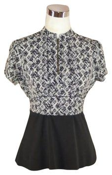 Girls From Savoy Anthropologie Top Black