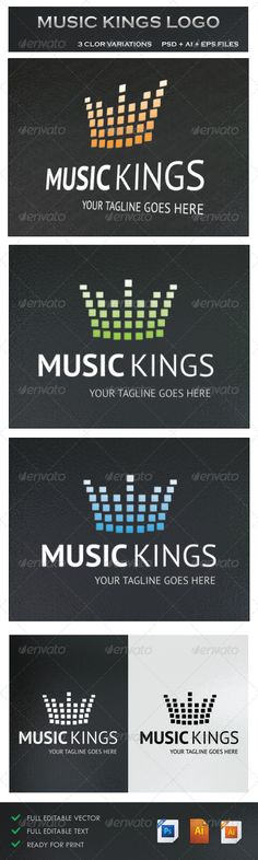 Music Kings PSD Logo  Template • Only available here ➝ http://graphicriver.net/item/music-kings-logo/5242731?ref=pxcr