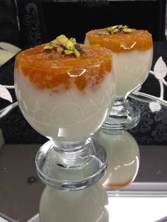 I love pumpkin dessert. I've been wanting to make pumpkin cups for a long time. Easy Desserts, Dessert Recipes, Pumpkin Custard, Custard Recipes, Food Website, Pumpkin Dessert, Arabic Food, Turkish Recipes, Original Recipe
