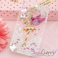 New iPhone 5 Case Cover Protector Swarovski Crystal Pink Disney Fairy Bling Blin | eBay