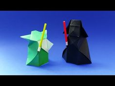 How to make an Origami Yoda from Star Wars in 5 minutes - Tutorial (Stéphane Gigandet) - YouTube