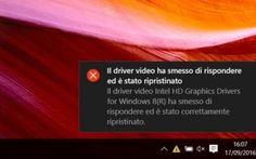 Il driver della scheda video non funziona, ecco come risolvere Windows 10 ti restituisce giornalmente un errore di driver della scheda video ripristinata.. Vuoi capire come risolverla ma non sai come fare?La prima cosa da fare è controllare lo stato dei driver d #schedavideo #driver