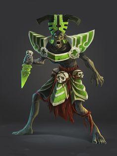 Game character design by Nikita Orlov, via Behance