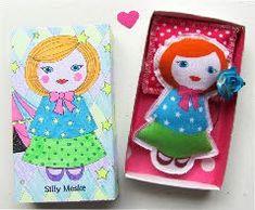 . Matchbox Crafts, Matchbox Art, Altered Boxes, Altered Art, Felt Crafts, Paper Crafts, Creative Box, Tin Art, Tiny Dolls