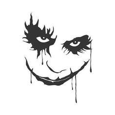 DC Comics Batman Dark Knight Joker Vinyl Decal Sticker Many Colors to Choose From Many Size Options Industry standard high performance calendared vinyl film Cut From Premium mil Vinyl Outdoor durability is 7 years Glossy surface finish Joker Pics, Joker Art, Batman Wallpaper, Disney Wallpaper, Batman The Dark Knight, Batman Dark, Joker Drawings, Tattoo Drawings, Knight Tattoo