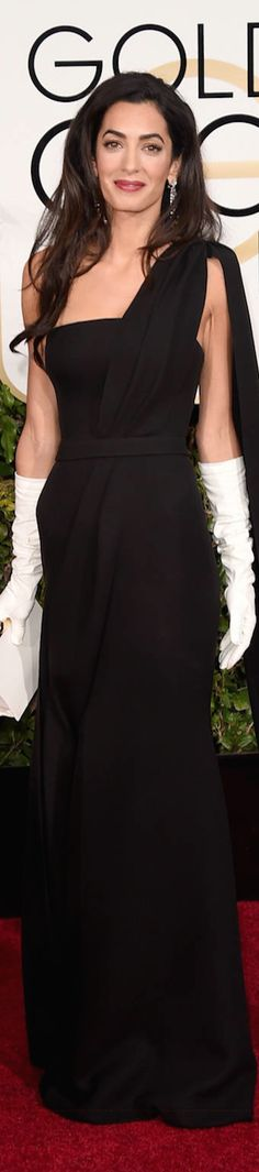 ON THE RED CARPET via LOLO repin by BellaDonna *updated* Amal Cloon ey 2015 Golden Globes