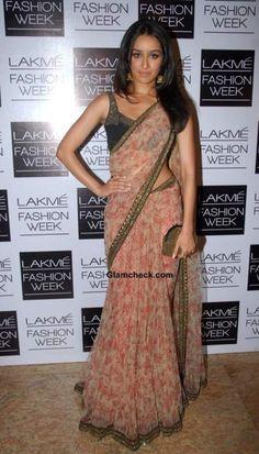 Shraddha Kapoor in Sabyasachi at LFW Winter-Festive 2013