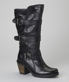 Take a look at this Black Buckle Shannon Boot by Eric Michael by Laurevan on #zulily today!