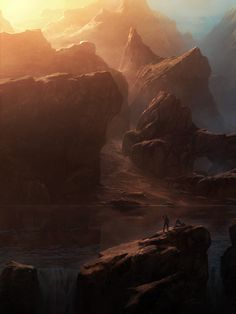 Book 3 - The Outcroppings of the Rocky Fortress of Mountains that the Underlings have built up, the last place you can see real light before you enter their acropolis