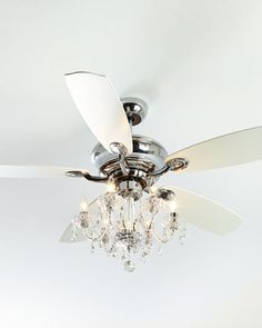 Turn your ceiling fan into a chandelier - for the dinning room ...