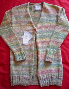 Ladies Hand-knitted Long Chunky Cardigan