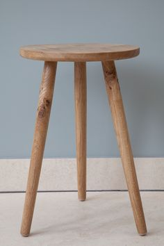 Galvin Brothers - handcrafted furniture made in England. Pippy Oak Signature Stool. #oak #furniture #stool #design