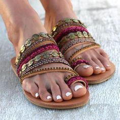 52e6f1d3f31 Prettymia Plus Size Thong Slip On Flat Slippers