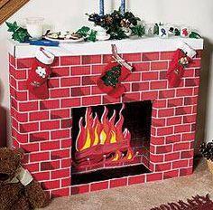 Cardboard Fireplace, Cardboard Hearth, Fireplace Decoration