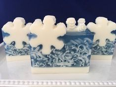 Jack Frost Soap snowflake soap christmas soap winter soap