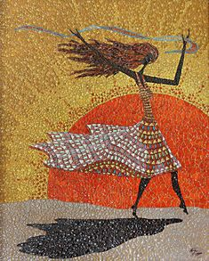 Morning Breezes by Linda Biggers- eggshell mosaic