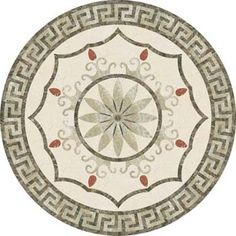 Model: Size: Diameter or Description: Cream Marfil… Marble Mosaic, Floor Patterns, Floor Design, Geometry, Decorative Plates, Mosaic Tables, Art Deco, Guanyin, Flooring Ideas