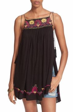 Free People Heat Wave Embellished Tunic Size Small Black $ FTC #3873