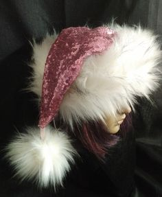 b55255435977d Excited to share the latest addition to my  etsy shop  Pink Sequin Santa hat
