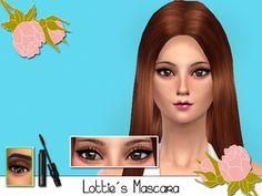 The Sims Resource: Lottie's Masara Eyelashes by SenpaiSimmer • Sims 4 Downloads