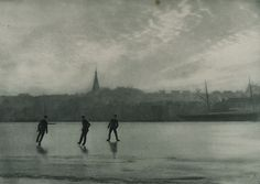 """""""On the Ice"""" from the portfolio """"From Schleswig-Holstein"""" (around Photographer: Wilhelm Dreesen, Museum of Arts and Crafts Hamburg Universal - Public Domain Dedication) Image Resources, More Images, Public Domain, Winter Wonderland, Art Museum, Painting, Ice, Blog, Crafts"""