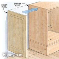 Shortcuts for Custom Built Cabinets - Built-in bookcases, shelving and cabinets are faster, easier and better with these tips from a veteran cabinetmaker. Ken Geisen has been building high-end custom cabinets, shelving and entertainment centers for 20 yea Diy Wood Projects, Furniture Projects, Home Projects, Diy Furniture, Building Furniture, Furniture Assembly, Quality Furniture, Furniture Stores, Garden Furniture