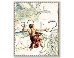 Andromeda Constellation vintage celestial map by DejaVuPrintStore, $11.90