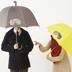 Ik zie, ik zie.... If everyone owned a Goggles Umbrella, the city streets would be a much better place.