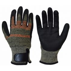 TS-5037 -Cut Protection Gloves Foam Nitrile Coating With Palm Ridges